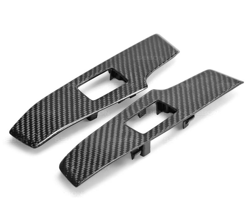 Seibon CFI14LXIS-WCR OEM Style Carbon Fiber Rear Window Control Covers Lexus IS250 | 350 2014