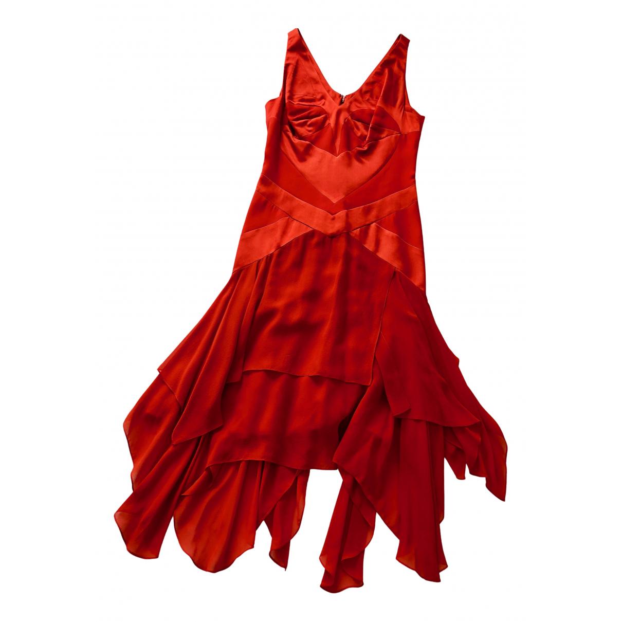 Martine Sitbon - Robe   pour femme en soie - rouge