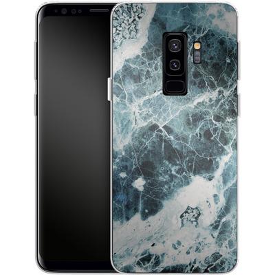 Samsung Galaxy S9 Plus Silikon Handyhuelle - Blue Sea Marble von Emanuela Carratoni