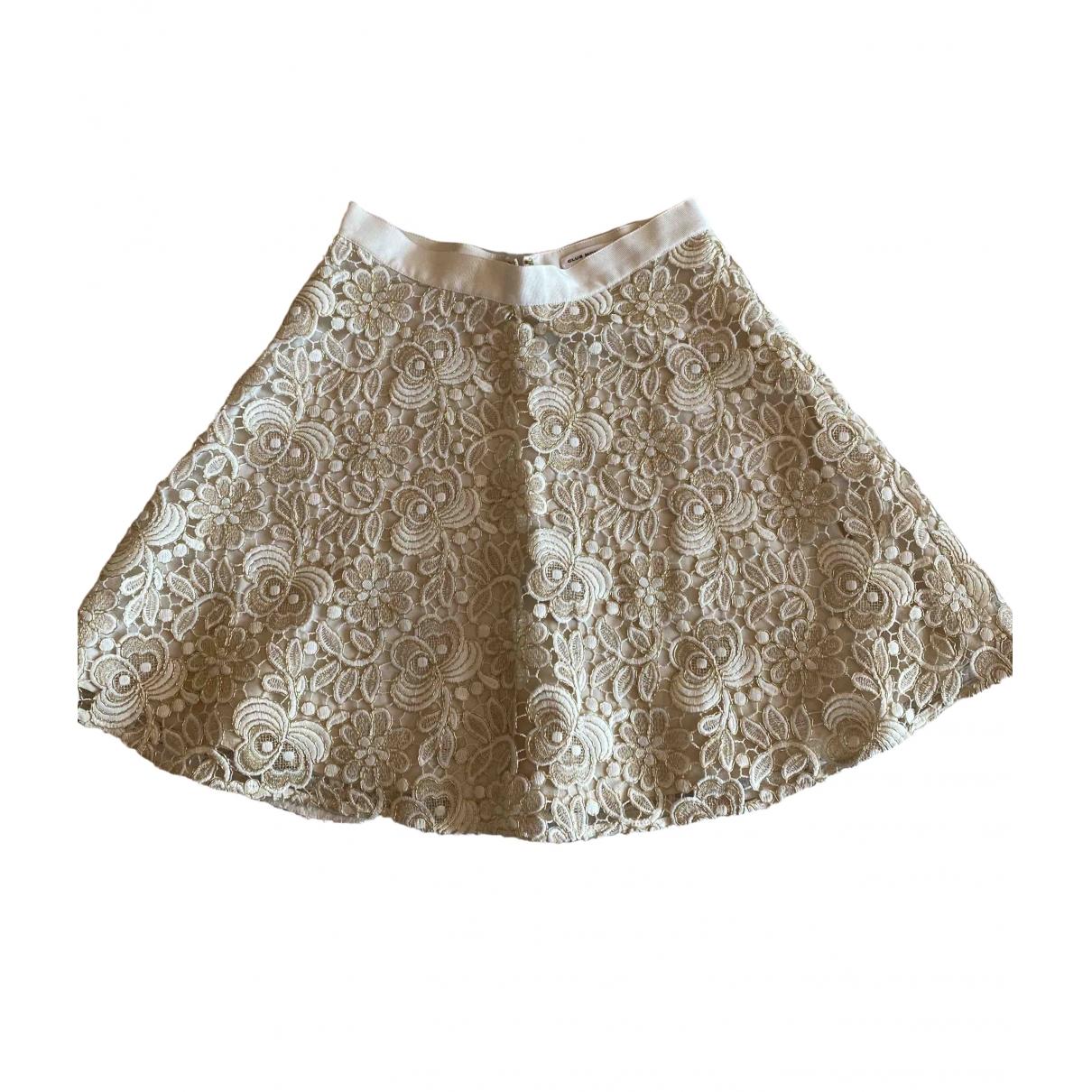 Club Monaco \N White Glitter skirt for Women XS International