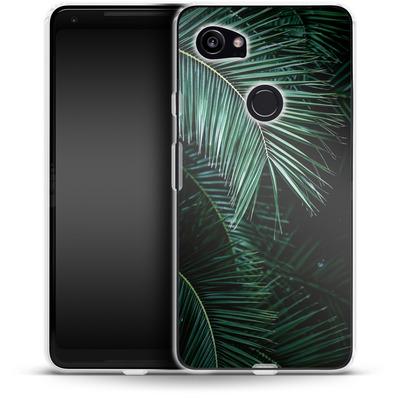 Google Pixel 2 XL Silikon Handyhuelle - Palm Leaves 9 von Mareike Bohmer