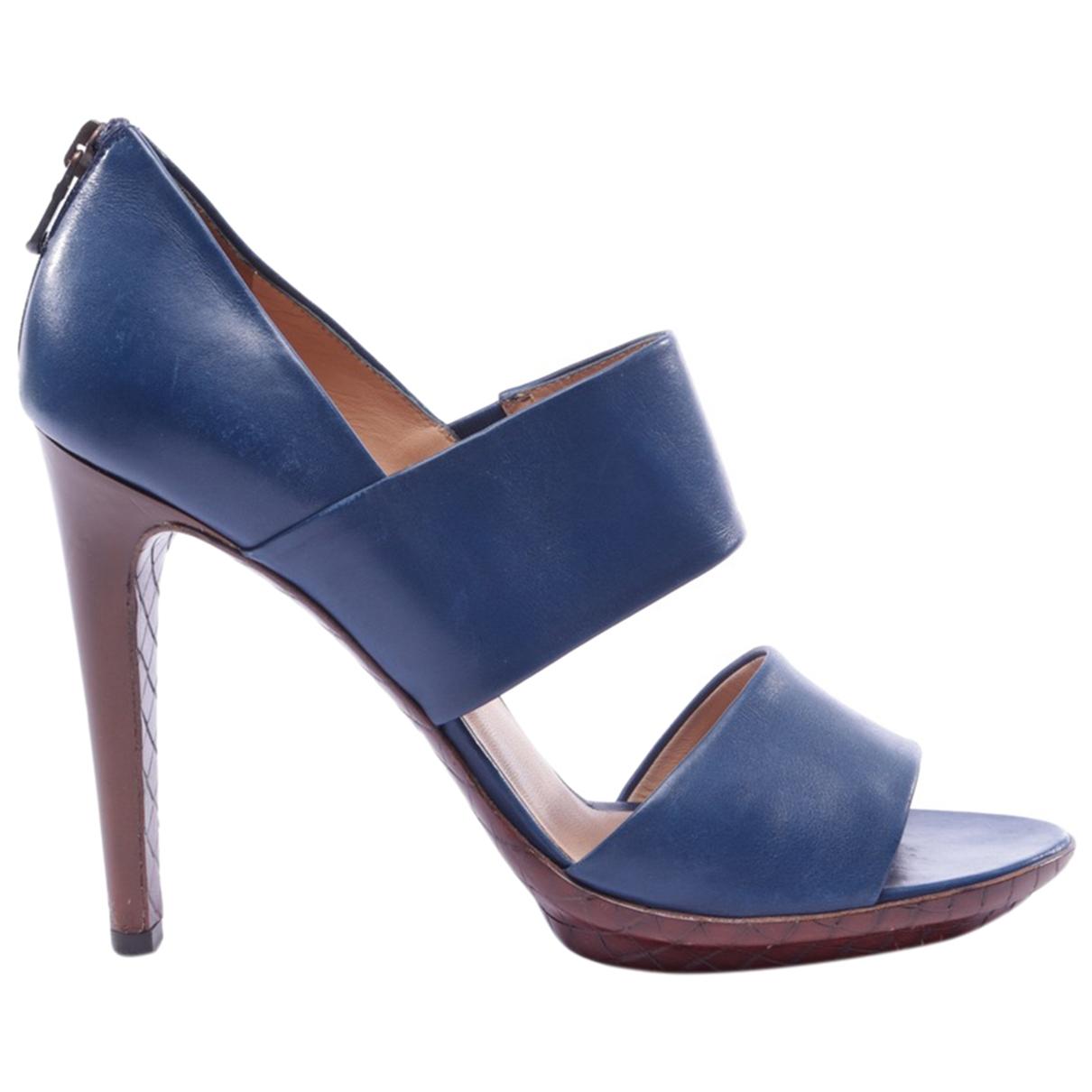 Bottega Veneta \N Blue Leather Heels for Women 39.5 EU