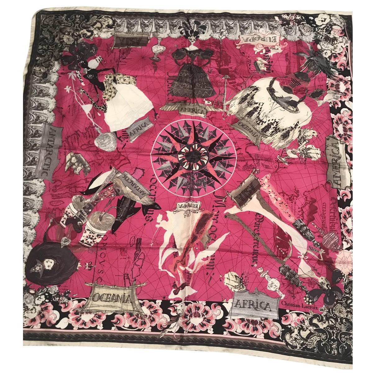 Christian Lacroix - Carre   pour femme en soie - rose