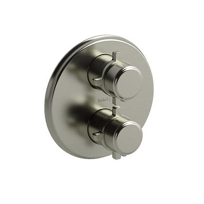 Momenti MMRD83+BN 4-Way Thermostatic/Pressure Balance 0.75 Coaxial Complete Valve with Cross Handles  in Brushed