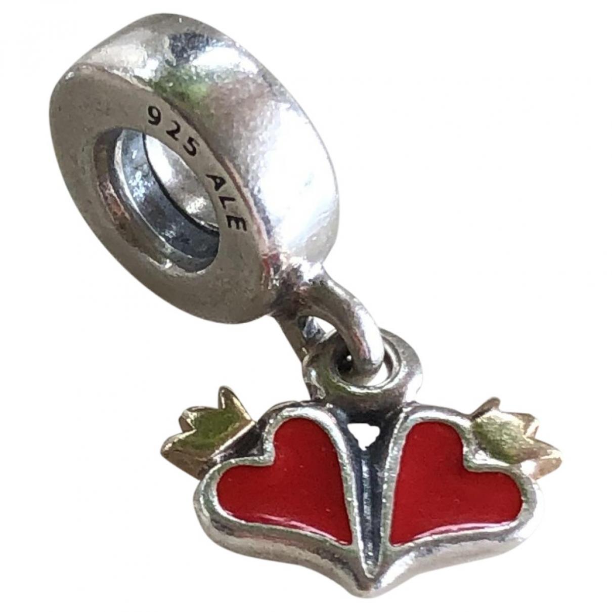 Pandora - Bracelet   pour femme en argent - rouge
