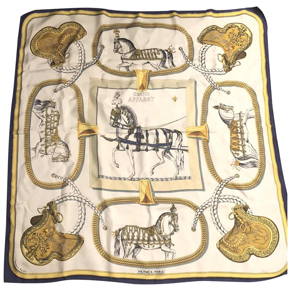 Hermès Carré 90 Multicolour Silk handkerchief for Women \N