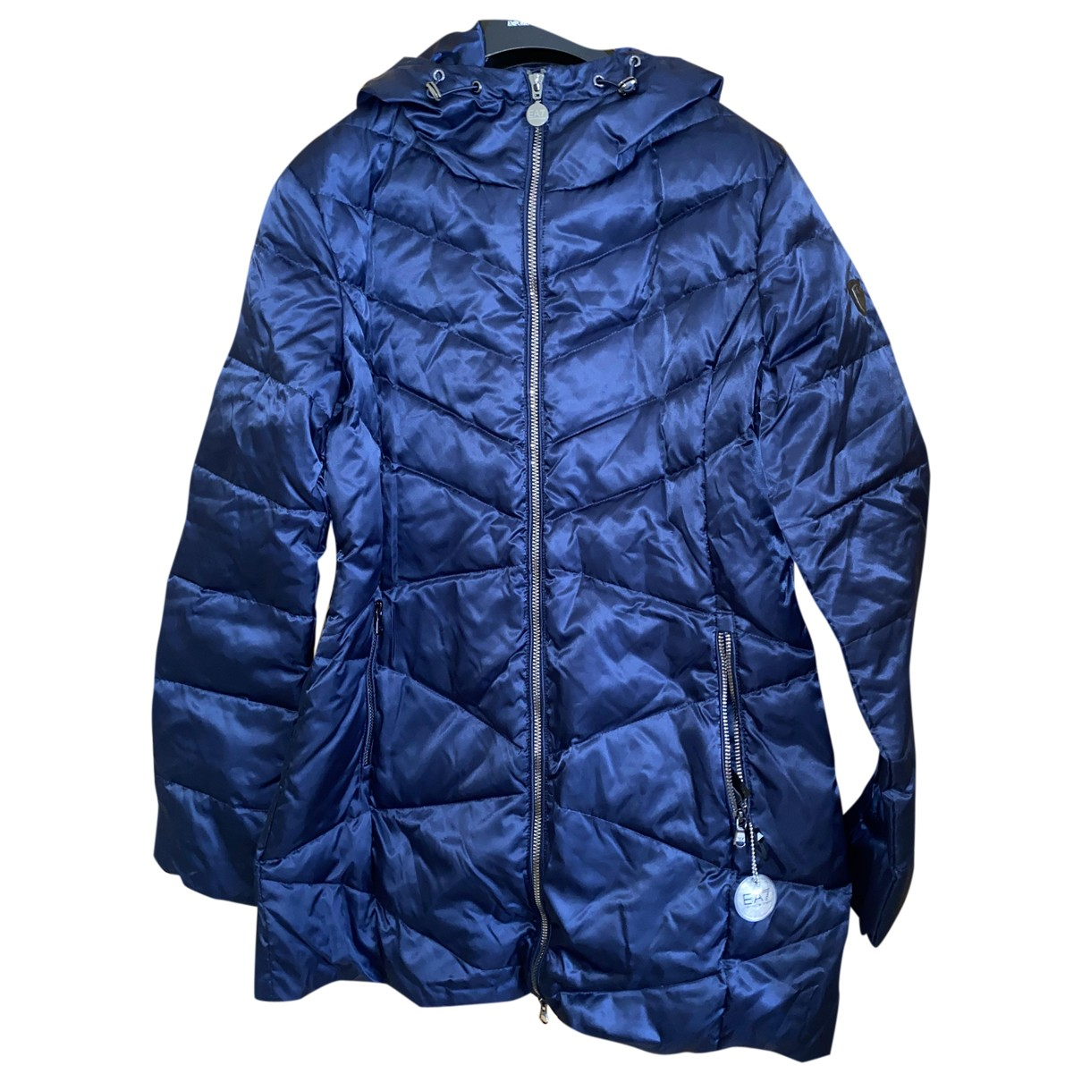 Emporio Armani - Manteau   pour femme - bleu