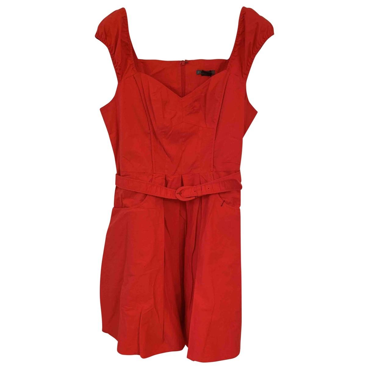Emporio Armani - Robe   pour femme en coton - rouge