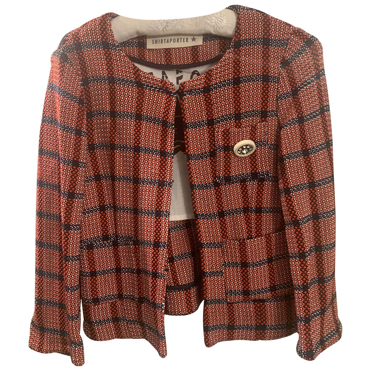 Shirtaporter - Veste   pour femme en tweed - rouge