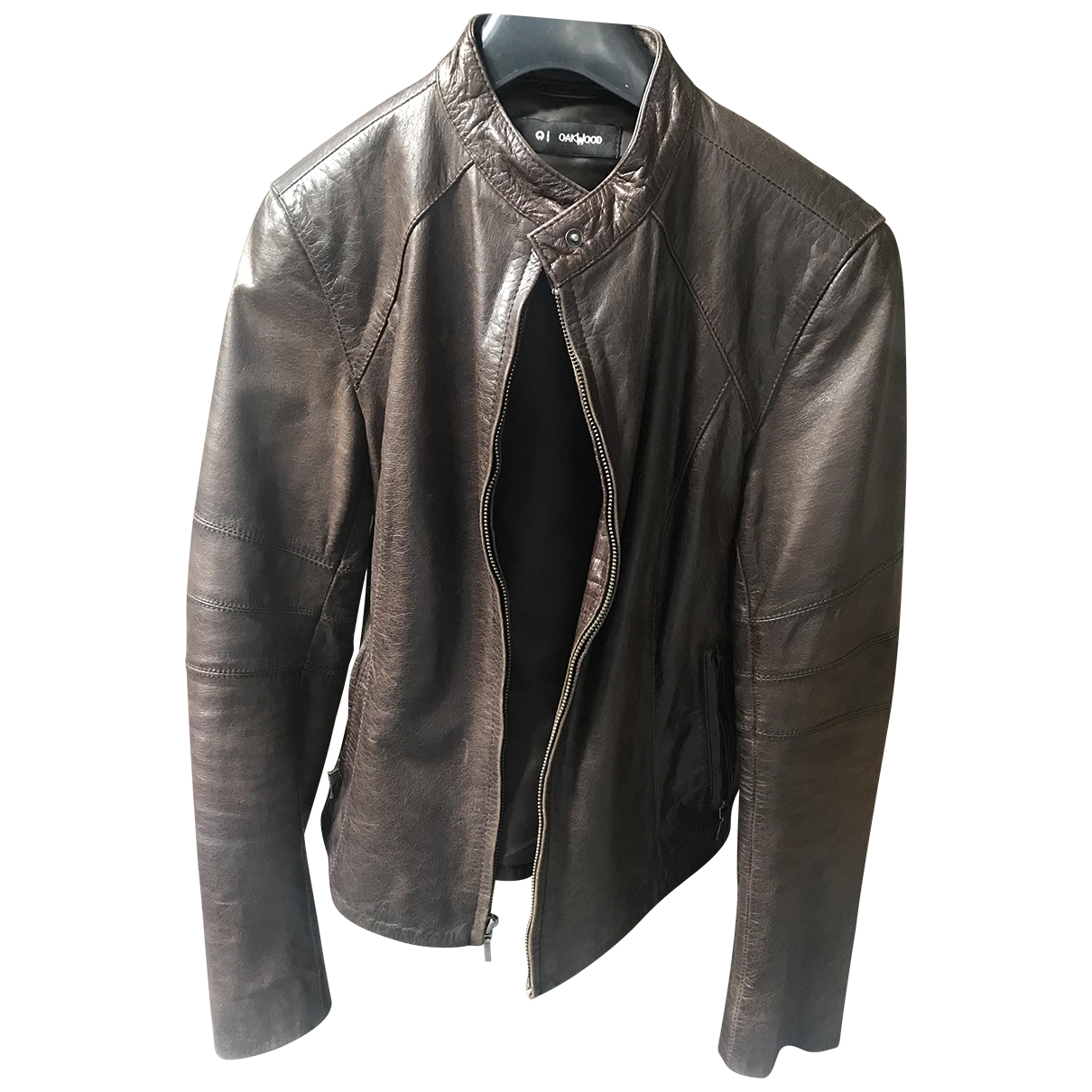 Oakwood \N Brown Leather Leather jacket for Women 38 FR