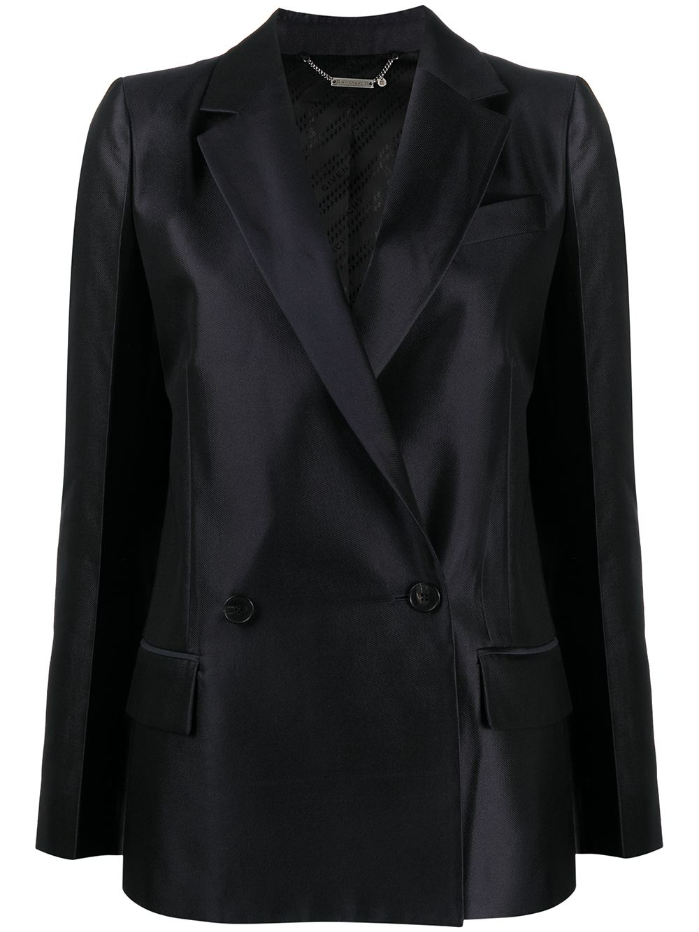 Wool Silk Blend Double Breasted Jacket