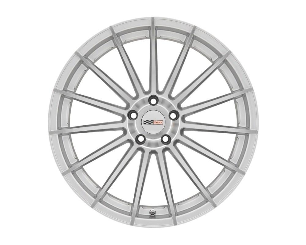 Cray Mako Wheel 19x9 5x120.65|5x4.75 50mm Silver w/ Mirror Cut Face