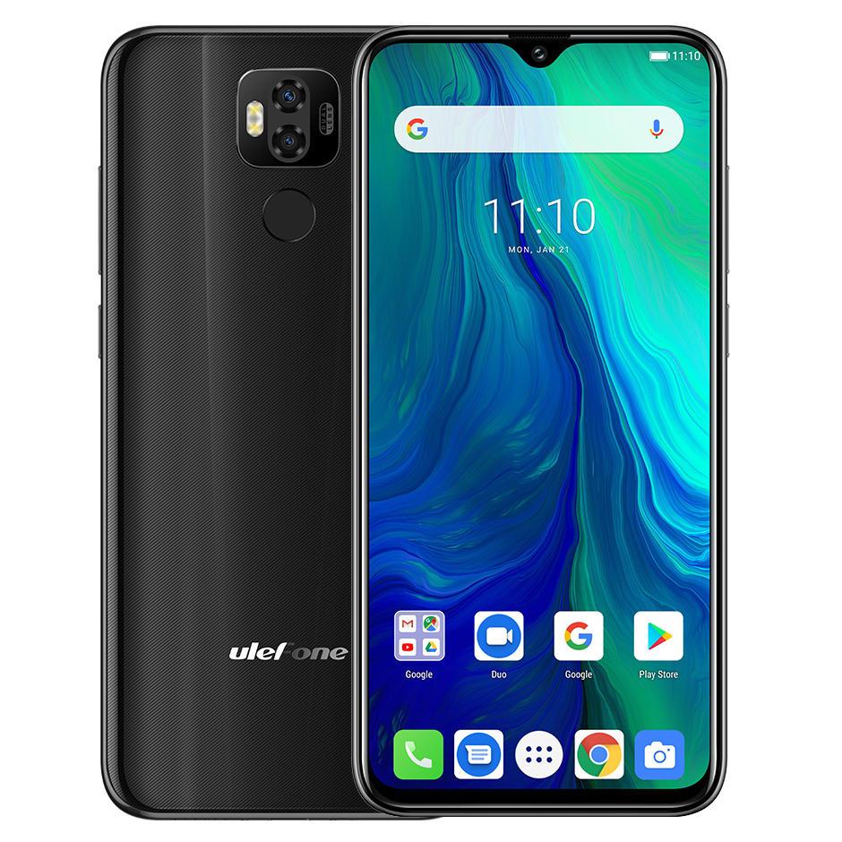 Ulefone Power 6 Global Version 6.3 inch FHD+ NFC 6350mAh 16MP Dual Rear Camera 4GB 64GB Helio P35 Octa core 4G Smartphon