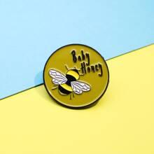 Kids Bee Pattern Brooch