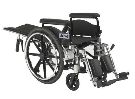 pla416rbdfa Viper Plus GT Full Reclining Wheelchair  Detachable Full Arms  16