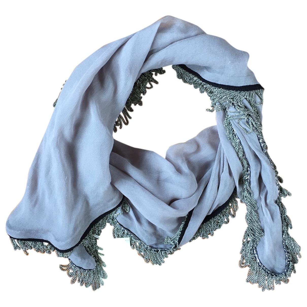 Maje \N Grey Silk scarf for Women \N