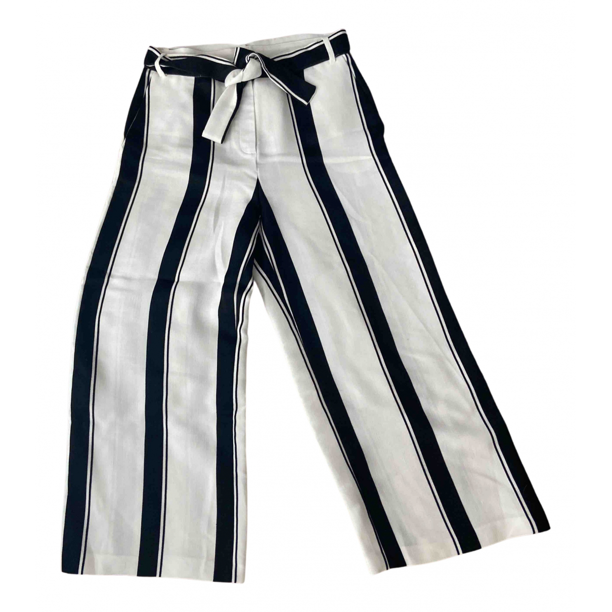Maje Fall Winter 2019 White Linen Trousers for Women 40 FR