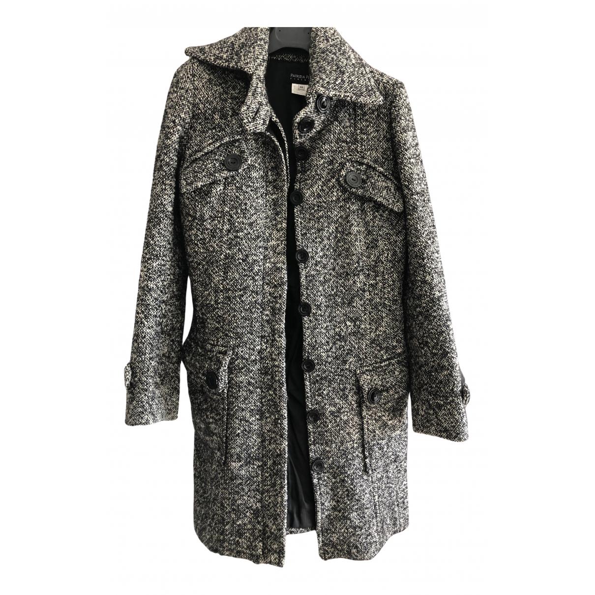 Patrizia Pepe - Manteau   pour femme en laine - multicolore