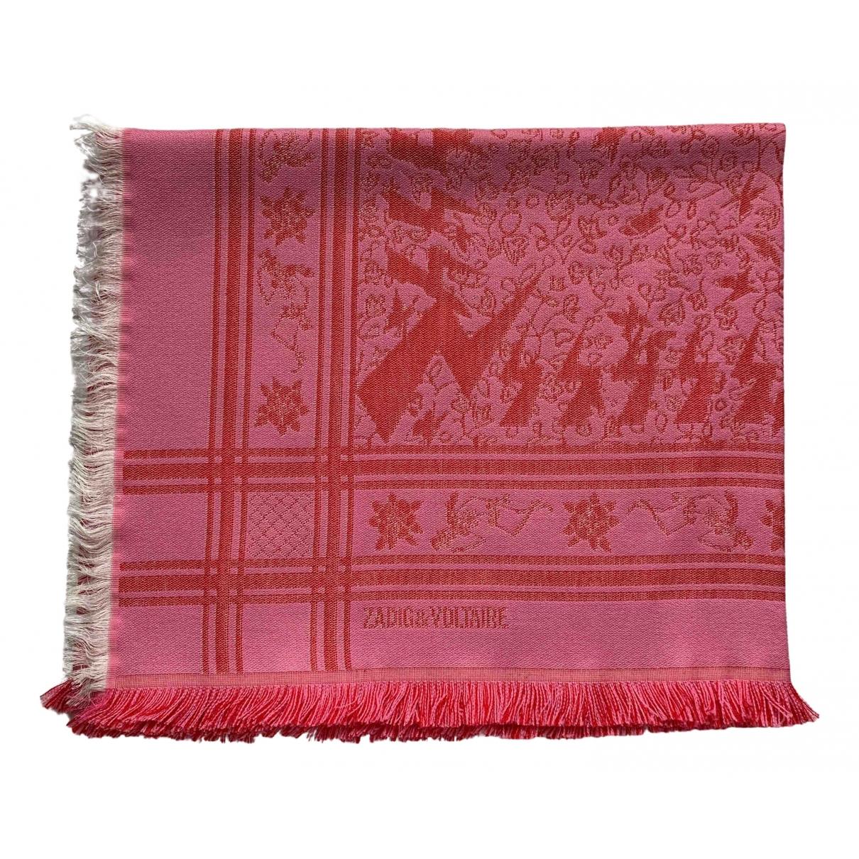 Zadig & Voltaire - Foulard   pour femme en laine - rose