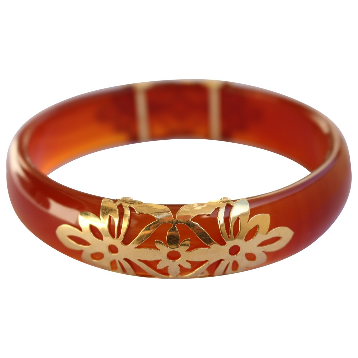 Non Signé / Unsigned \N Orange Yellow gold bracelet for Women \N