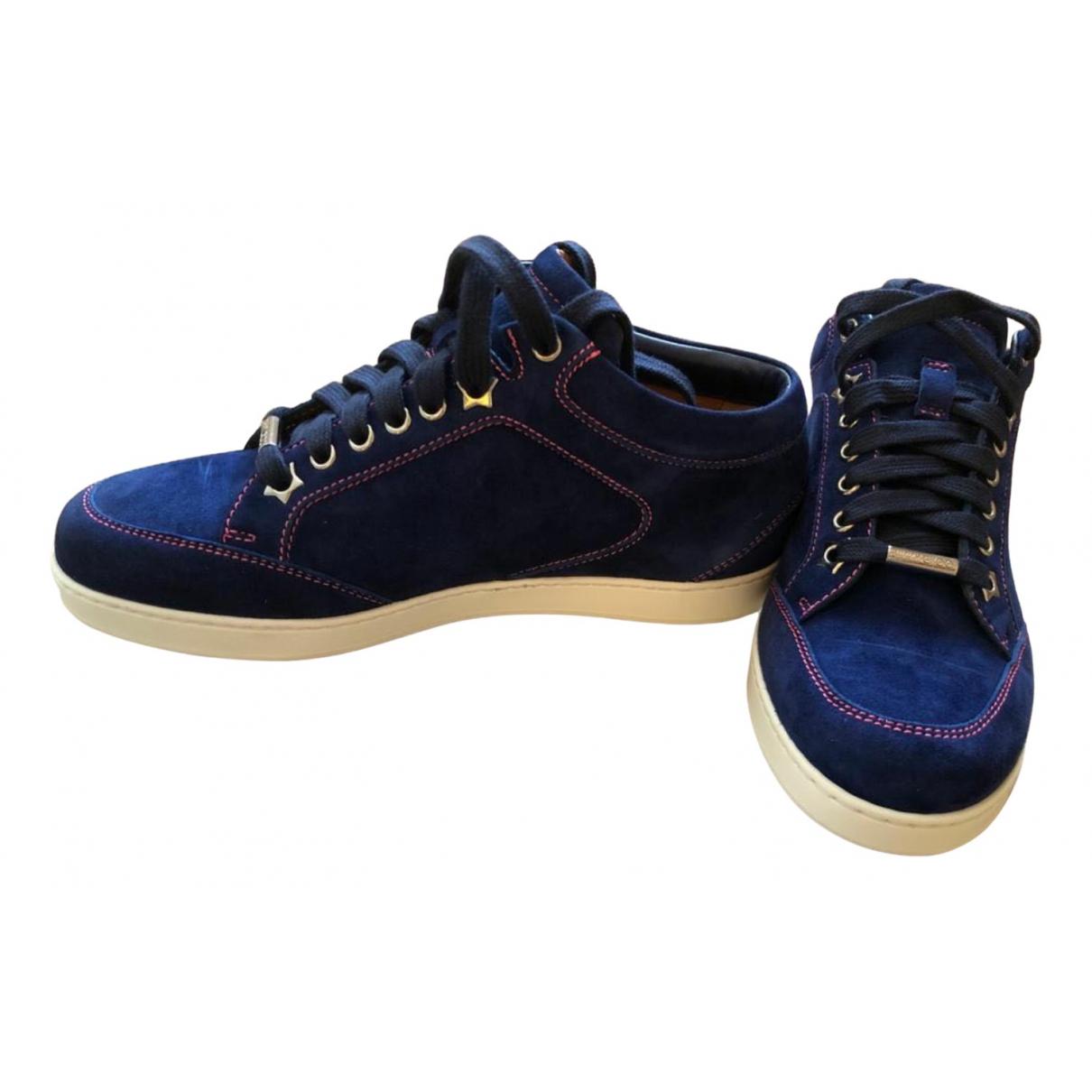 Jimmy Choo \N Sneakers in  Marine Veloursleder