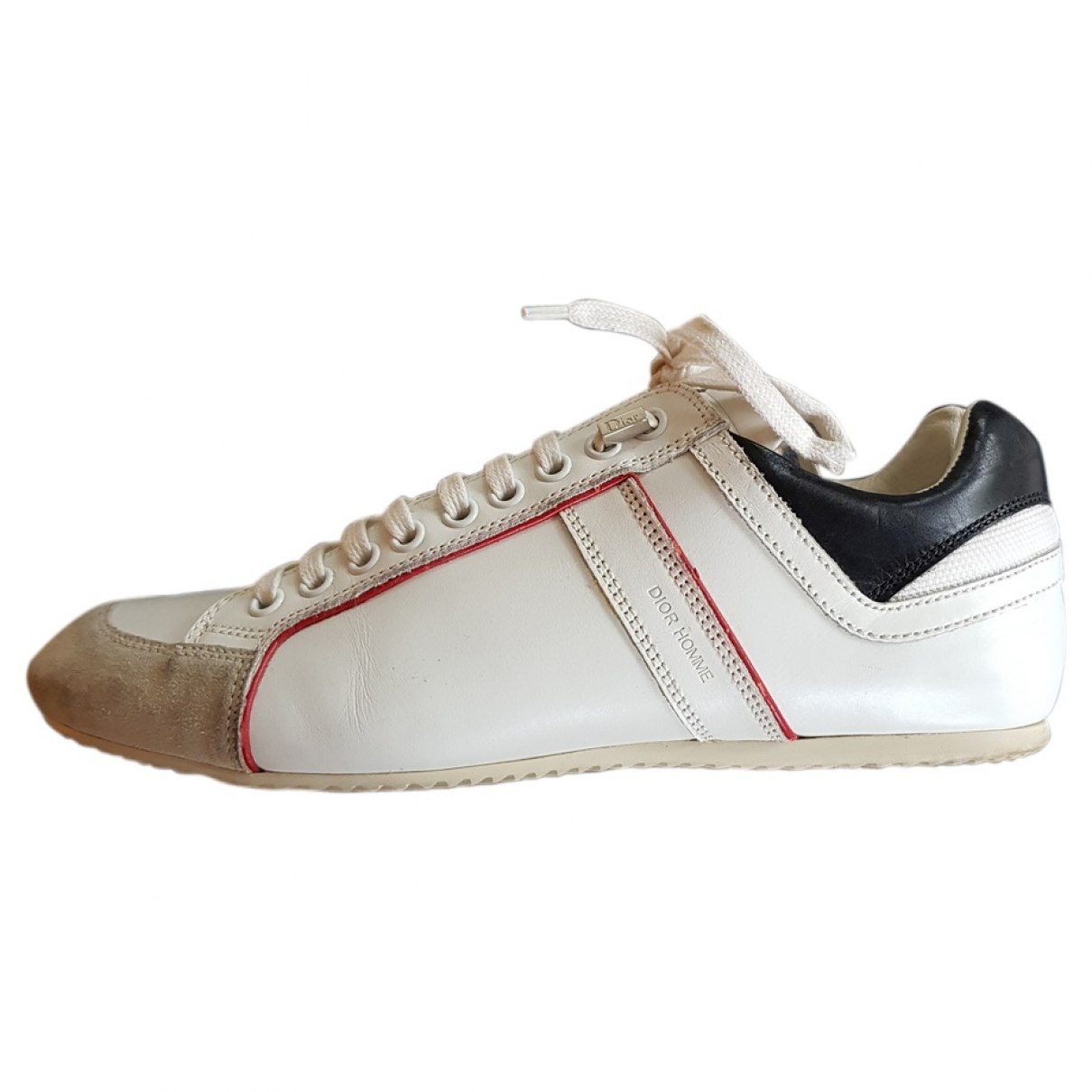 Dior Homme \N White Leather Trainers for Men 39 EU