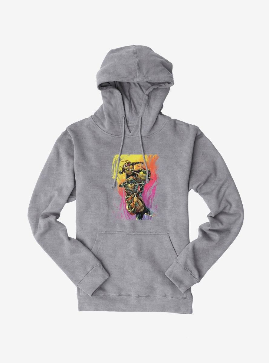 Teenage Mutant Ninja Turtles Rainbow Paint Group Fight Hoodie