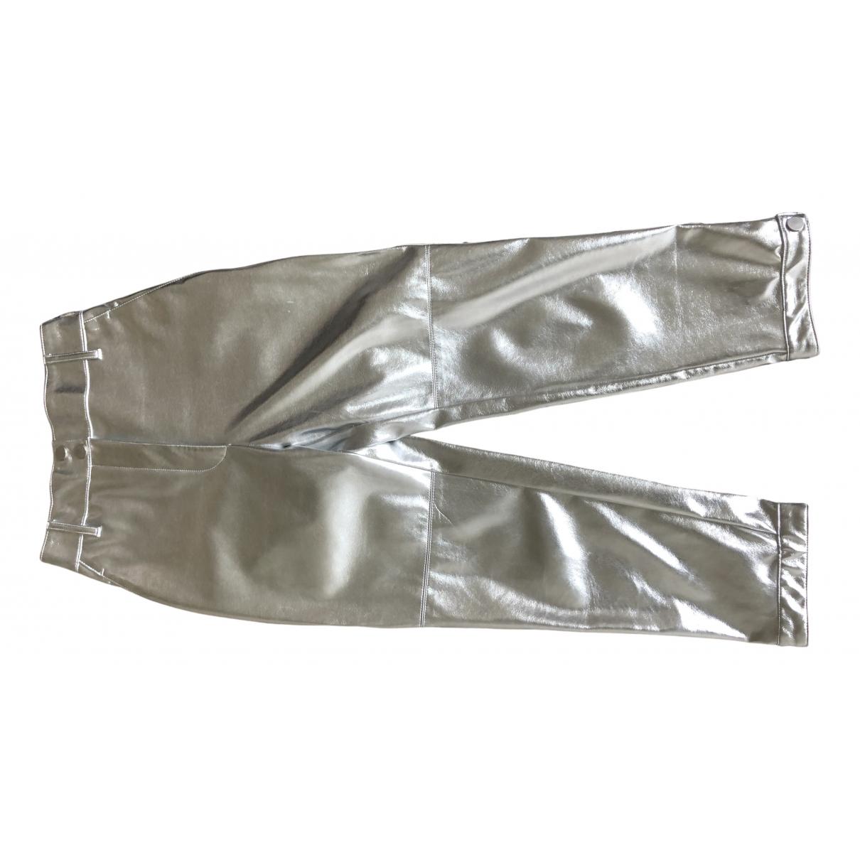 Pinko N Silver Trousers for Women 36 IT