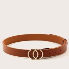 Cinturon de hebilla doble anillo para niños