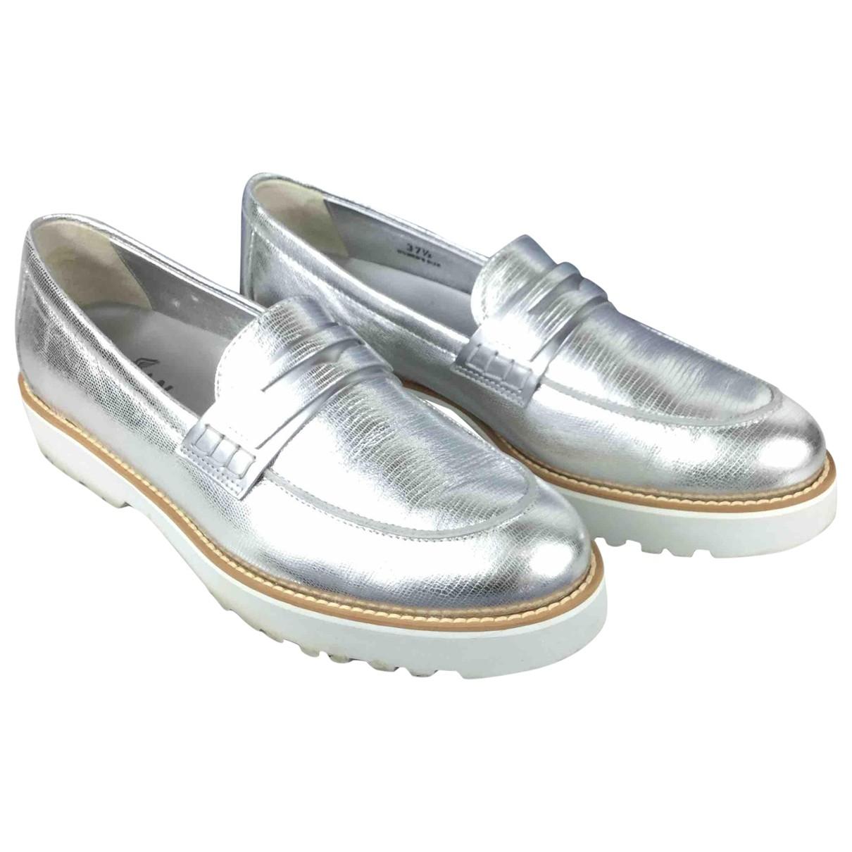 Hogan \N Espadrilles in  Silber Leder