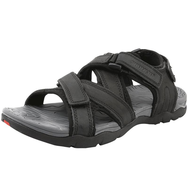 Genuine Leather Opened Toe Casual Sandals