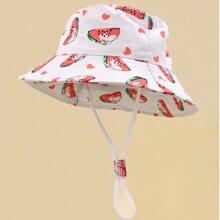 Toddler Kids Watermelon Pattern Bucket Hat