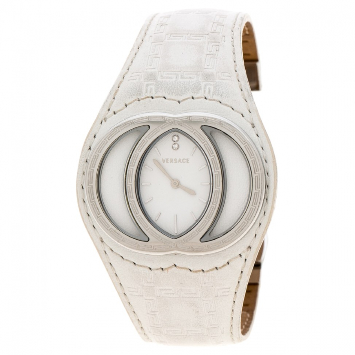 Versace \N White Steel watch for Women \N