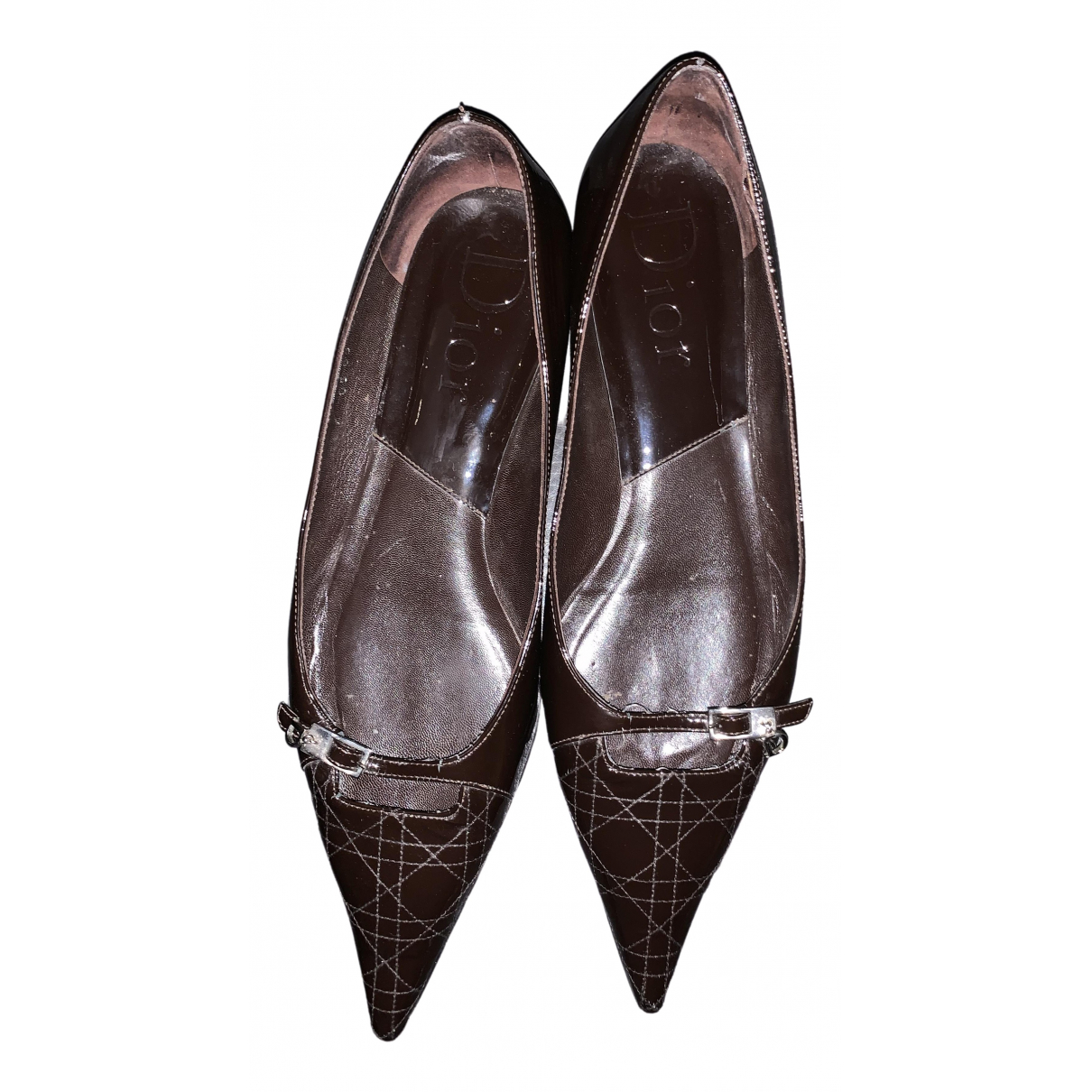 Dior \N Ballerinas in  Braun Lackleder