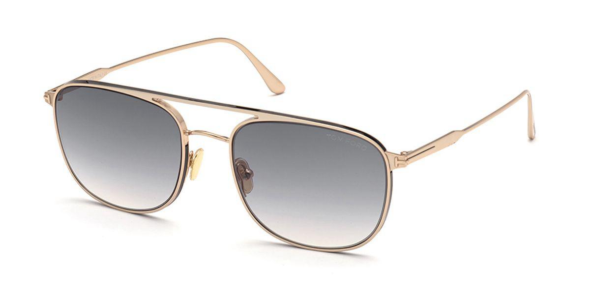 Tom Ford FT0827 JAKE 28B Mens Sunglasses Gold Size 56