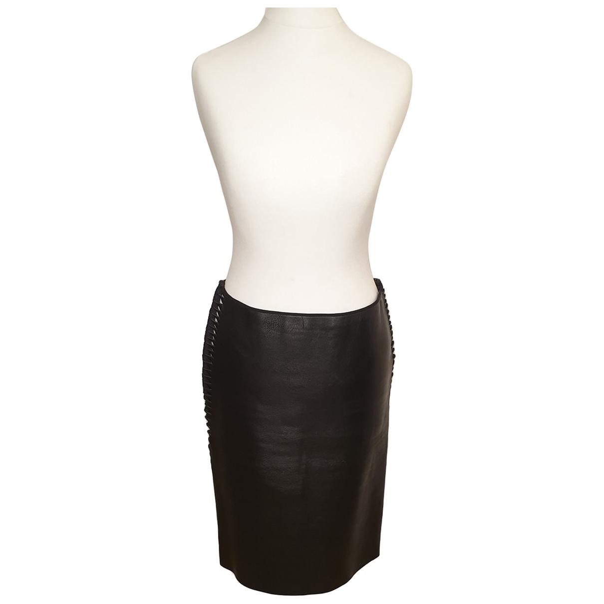 Dion Lee - Jupe   pour femme en cuir - noir