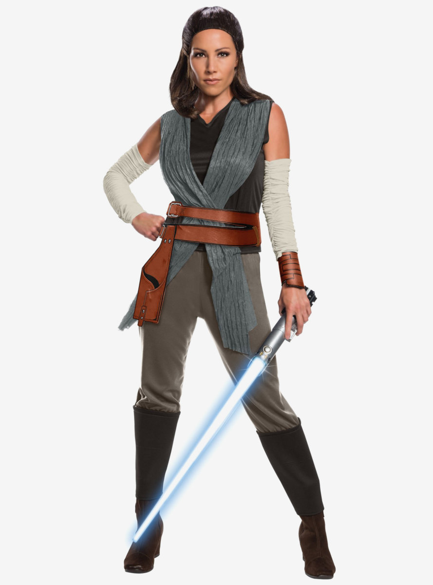 Star Wars Episode Viii Star Wars The Last Jedi Deluxe Women'S Rey Costume