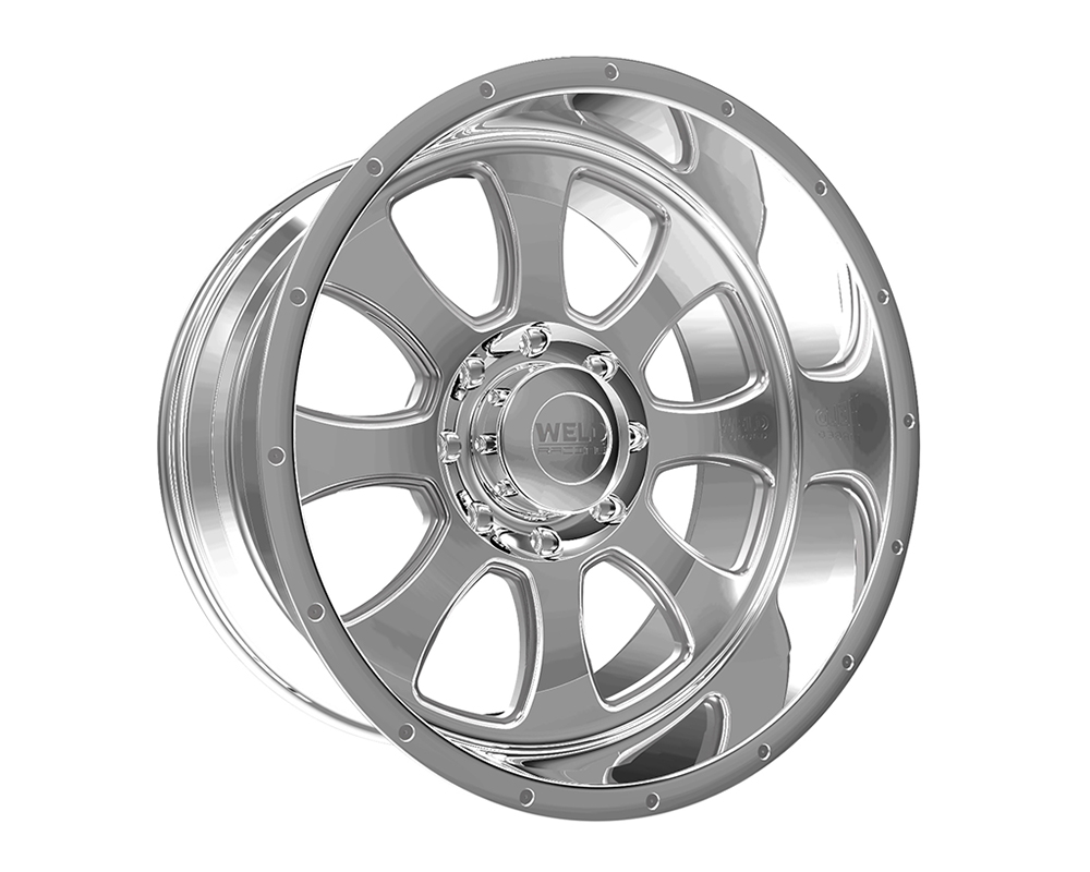 Weld Racing 82A1-24256-519N XT Renegade 24x12 5x5.5 -51mm Polished Lip w/Rivets & Text