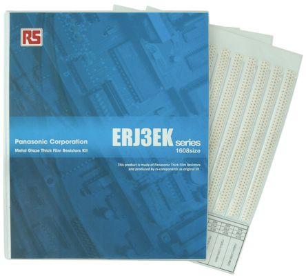 Panasonic , ERJ3EK Thick Film, SMT 122 Resistor Kit, with 12200 pieces, 10 Ω to 1MΩ