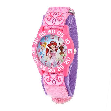 Disney Disney Princess Girls Pink Strap Watch-W001667, One Size , No Color Family