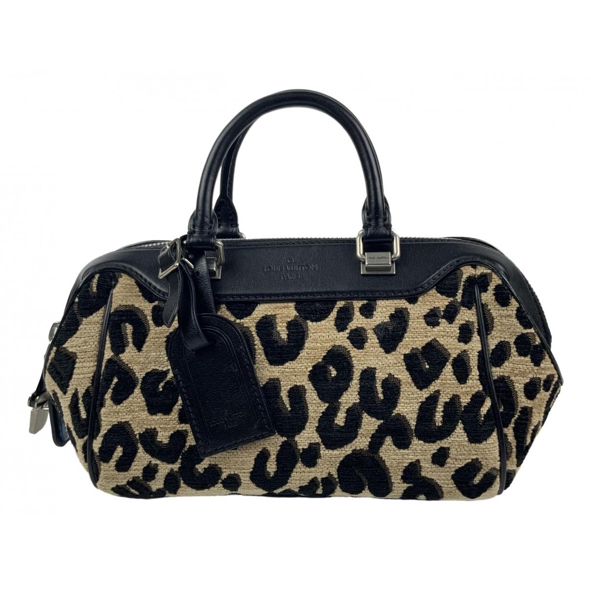 Louis Vuitton Stephen Sprouse Boston Brown Velvet handbag for Women \N