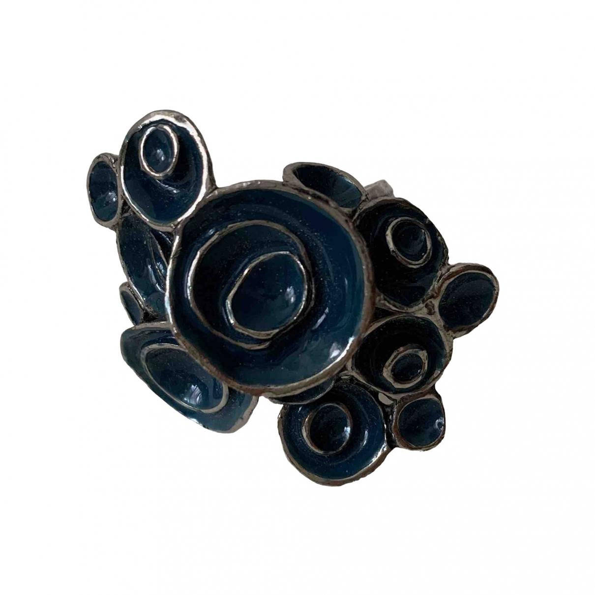 Yves Saint Laurent - Bague Arty pour femme en metal - bleu