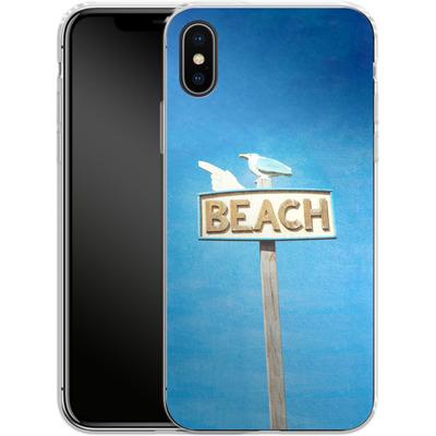 Apple iPhone X Silikon Handyhuelle - Beach von Joy StClaire