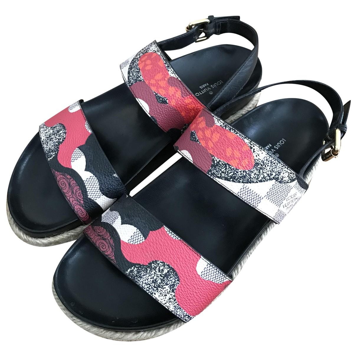 Louis Vuitton - Sandales   pour femme en toile - multicolore