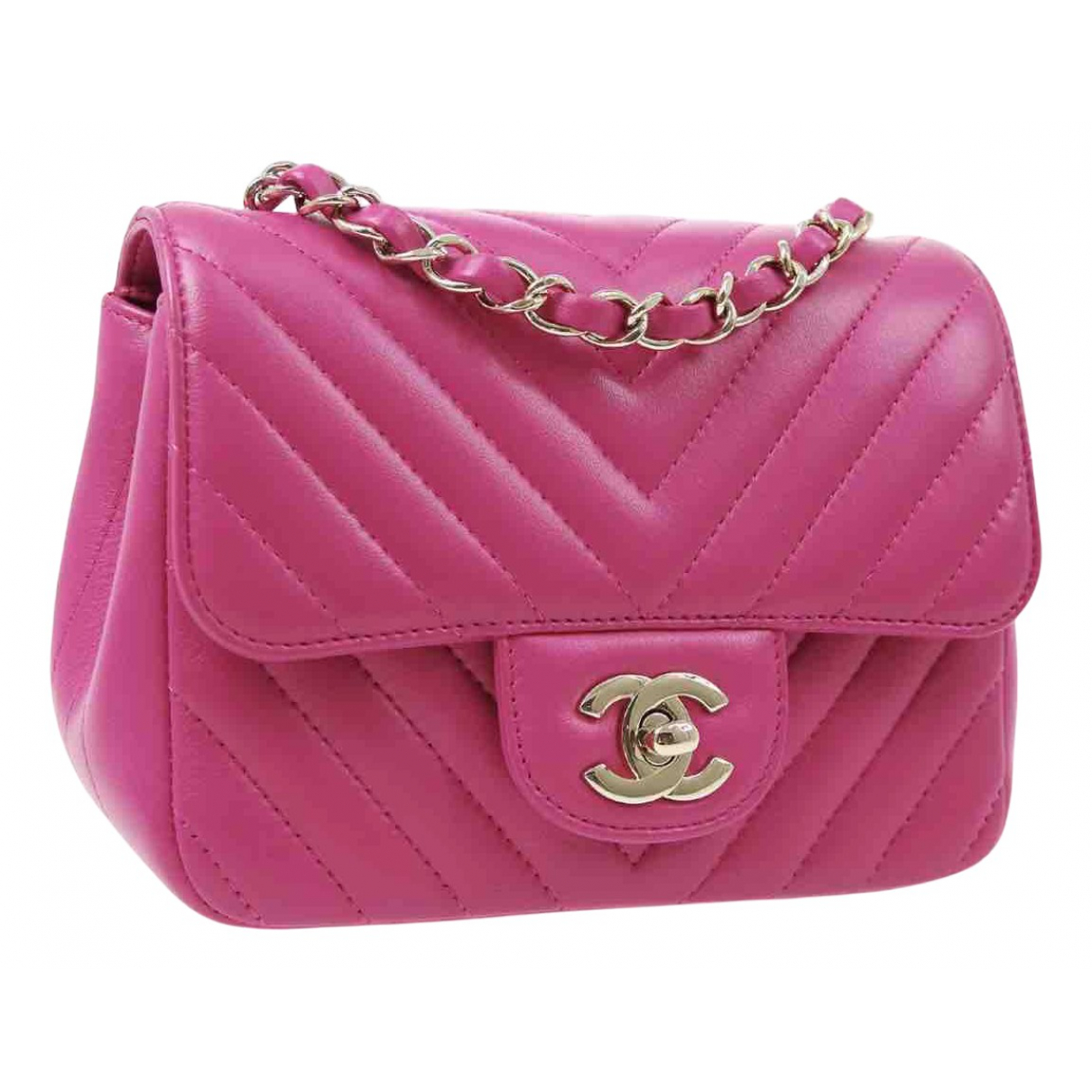 Chanel Timeless/Classique Pink Leather handbag for Women \N