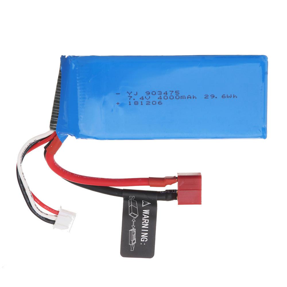 PXtoys 7.4V 4000mAh 25C 2S T Plug Lipo Battery for 9200 9202 1/12 Rc Car Parts PX9200-54