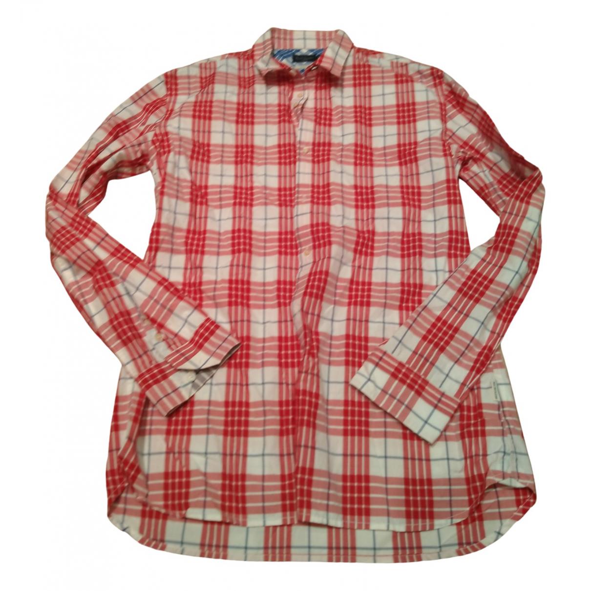Paul Smith - Chemises   pour homme en coton - rouge
