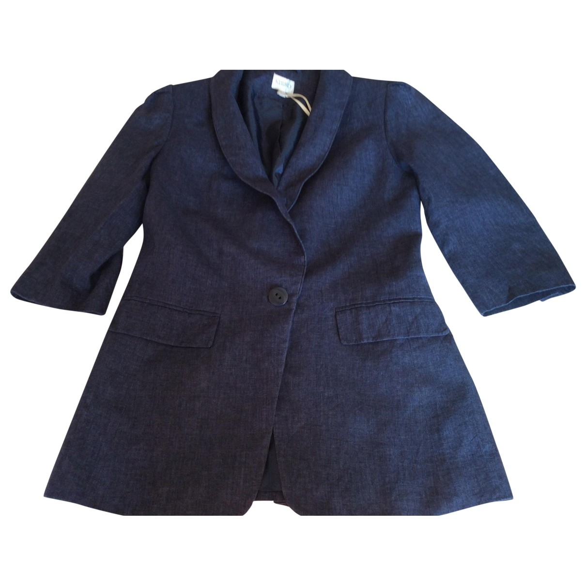 Non Signé / Unsigned \N Blue Linen jacket for Women 12 UK