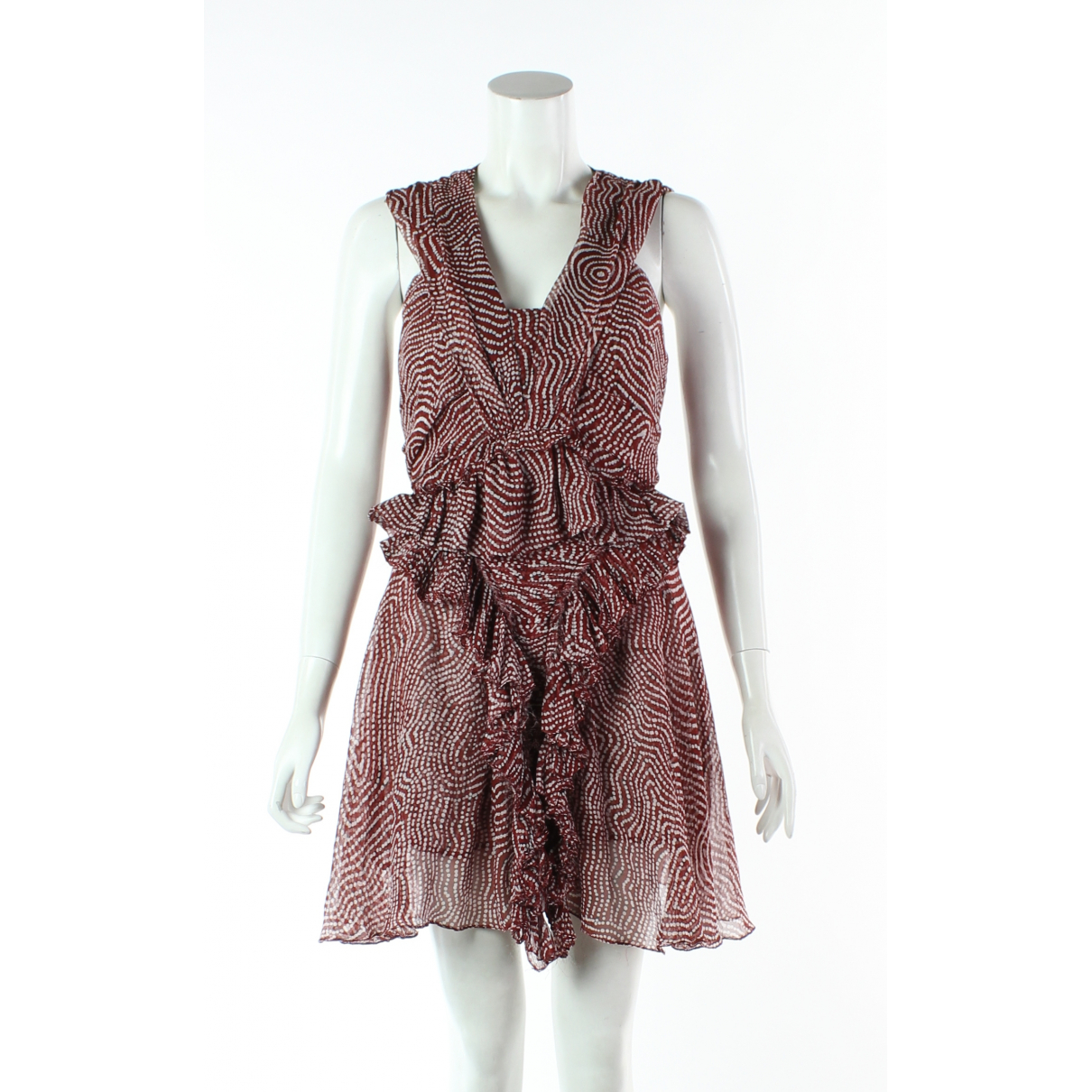 Isabel Marant \N Orange Silk dress for Women 36 FR