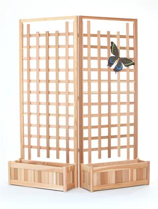 PL30-Twin 3-Piece Planter Set with 2x Planter Boxes and Hinged Trellis